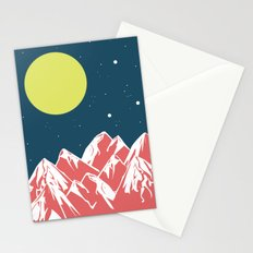 galactic mountains Stationery Cards