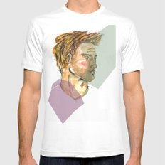 Print Mens Fitted Tee SMALL White