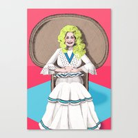 Seventies Dolly  Canvas Print