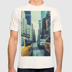 New York Yellow Cabs Mens Fitted Tee Natural SMALL