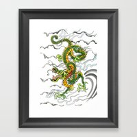 Japanese Dragon Tattoo Framed Art Print
