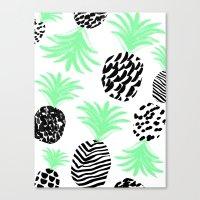 Classy Pineapples Canvas Print