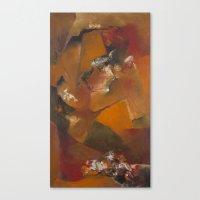 Facetas en Bronce Canvas Print
