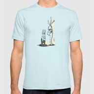 EVIL CARROT Mens Fitted Tee Light Blue SMALL