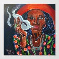 Old Gypsy Woman Canvas Print