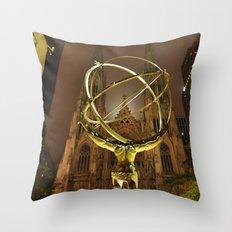 Atlas-Gold Throw Pillow