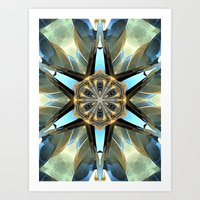 Abstract Earth Tones Emb… Art Print