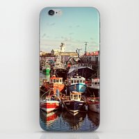 Boats resting in the Harbour iPhone & iPod Skin