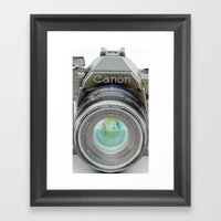 Old Canon AE-1 Camera Framed Art Print