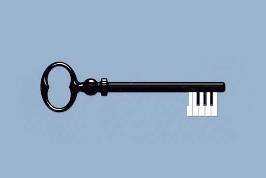 The Key. Art Print