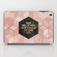 She believed she could so she did iPad Case