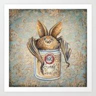 Art Print featuring Bat Cookies by Patrizia Ambrosini