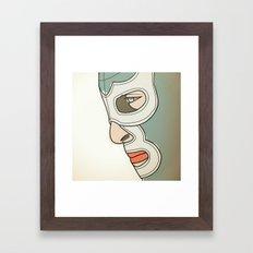 LUCHA LIBRE Framed Art Print