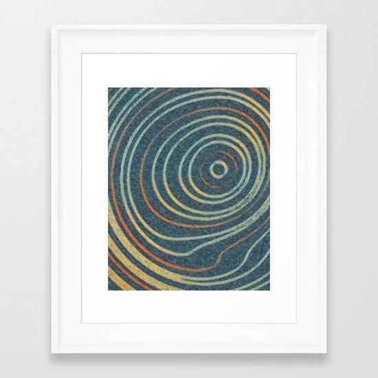 Curved Stripes Framed Art Print