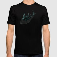 Just Beard it SMALL Mens Fitted Tee Black
