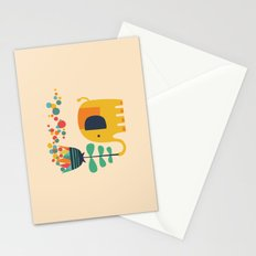 Elephant with giant flower Stationery Cards