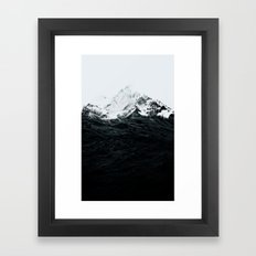 Those waves were like mountains Framed Art Print