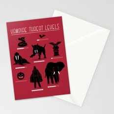 Vampire Threat Levels Stationery Cards
