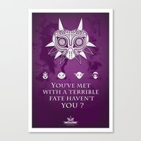 The Legend of Zelda Majora's Mask Terrible Fate Nintendo Geekery Poster/ Fine Art Print / Retro Game Canvas Print