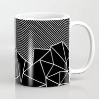 Ab Lines 45 Black Mug