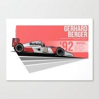 Gerhard Berger - 1992 Mo… Canvas Print