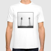 Lighthouses Mens Fitted Tee White SMALL