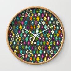 pop diamonds dark Wall Clock