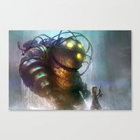 Mr Bubbles Strolling  Canvas Print