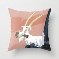 Trashmouth Goat, The Fro… Throw Pillow