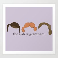 The Sisters Grantham: Downton Abbey Art Print