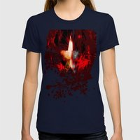 Captain America: Cap's S… Womens Fitted Tee Navy SMALL