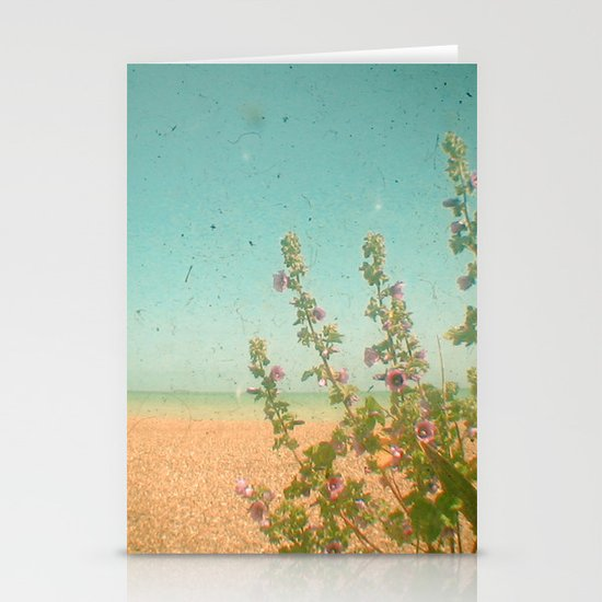 Flowers by the Sea Stationery Card
