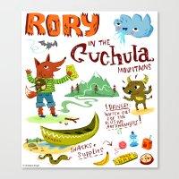 Rory In The Cuchula Moun… Canvas Print