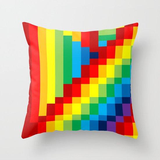 Fuzz Line #3 Throw Pillow