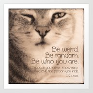 Wise Tabby Cat Art Print