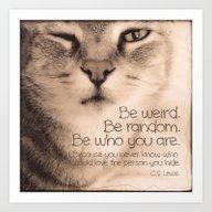 Wise Tabby Cat Art Print