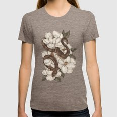 Snake and Magnolias Womens Fitted Tee Tri-Coffee SMALL