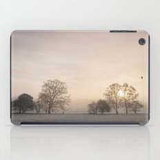 Sunrise through fog on a frosty morning. Santon Downham, Norfolk, UK. iPad Case