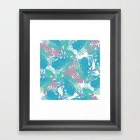 Tropical Blue Frog Patte… Framed Art Print