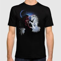 Unicorn Wars Mens Fitted Tee Black SMALL