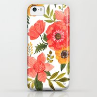 iPhone 5c Cases featuring FLOWER POWER by Oana Befort