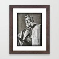 Honest Abe Framed Art Print