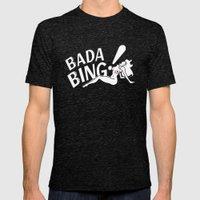 Neon Bada Bing! Mens Fitted Tee Tri-Black SMALL