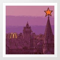 Fast Food Moscow (Januar… Art Print