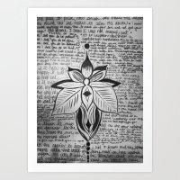 lyrics Art Prints featuring lyrics baby lyrics by Kaitlin Bloom