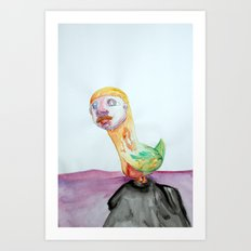 Bird Brain Art Print