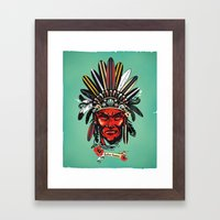 THE INDIAN SUMMER Framed Art Print