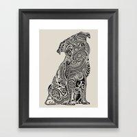Polynesian Pug  Framed Art Print