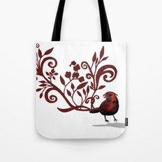 Swirly Bird Tote Bag