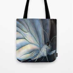 White Morpho Butterfly Tote Bag